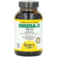 Omega 3 1000mg by Country Life 100 Softgels
