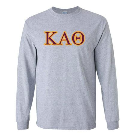 Kappa Alpha Theta Greek Letter Design Long Sleeve T-Shirt – White