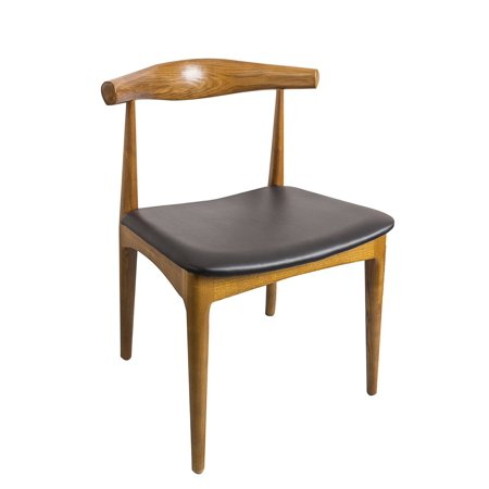 Fantastic Elbow Dining Chair Black Faux Leather Ash Wood Frame In Walnut Stain Dining Side Chair With Black Pu Seat Cushion Walnut Finish Beatyapartments Chair Design Images Beatyapartmentscom