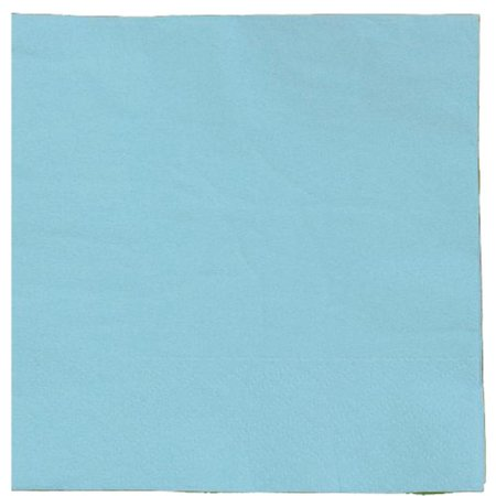 Exquisite Disposable Beverage & Cocktail Napkins - Bulk 100 Count - Light Blue - High Quality Paper Napkins for Dinners, Luncheons, Birthday Parties, Weddings, Bridal & Baby Showers