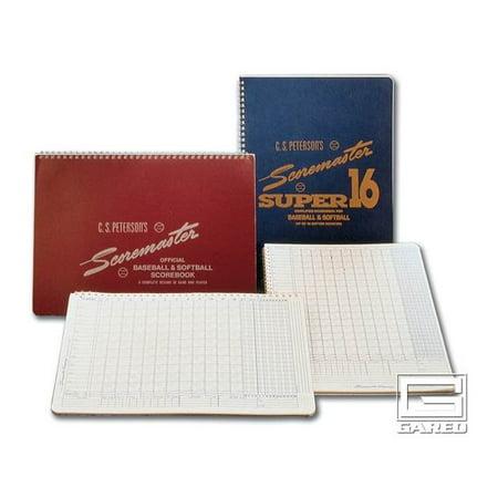 Petersons Baseball Super Scoremaster 16 Scorebook   Set Of 12