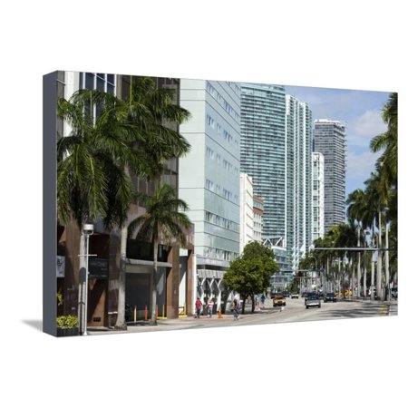 Modern Buildings Along Biscayne Boulevard, Downtown Miami, Miami, Florida, Usa Stretched Canvas Print Wall Art By Sergio Pitamitz](Biscayne Boulevard)