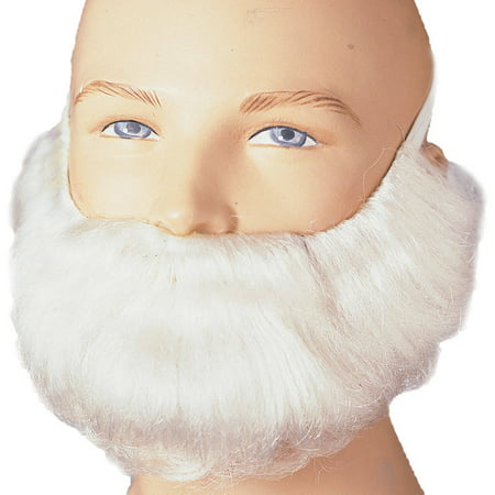 Short White Beard and Moustache Adult Halloween Accessory - Male Halloween Makeup With Beard