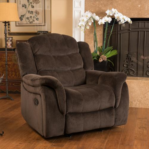 christopher knight home hawthorne fabric glider recliner club chair by