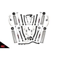 """Rough Country 6"""" Lift Kit compatible w/ 2007-2018 Jeep Wrangler JK 2DR X-series w/ N3 Shocks Suspension System 68422"""