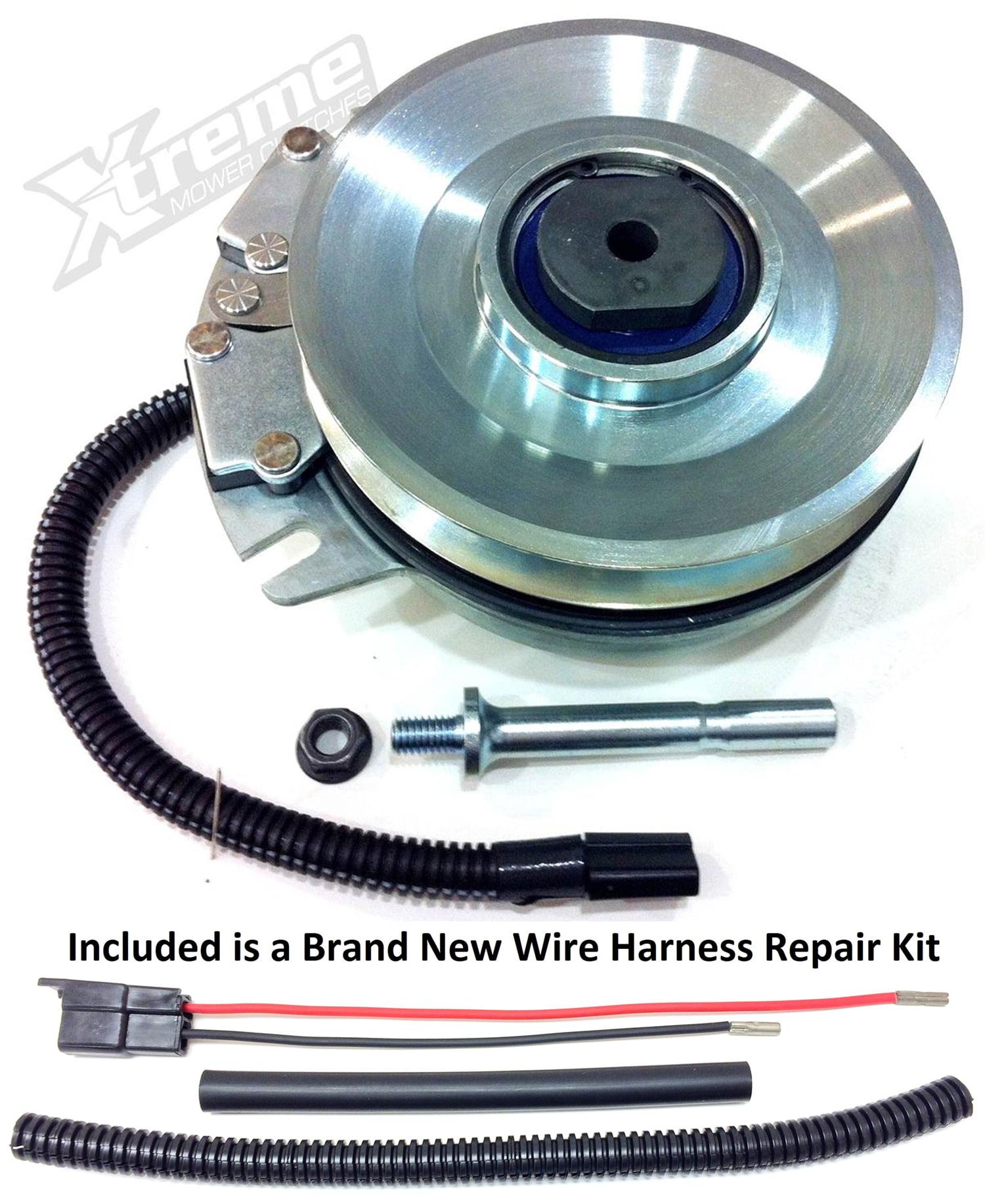 Bundle - 2 items: PTO Electric Blade Clutch, Wire Harness Repair Kit.  Replaces John Deere PTO Clutch Z-Trak Z920A, Z925A, Z930A - w/ Wire Repair  Kit !