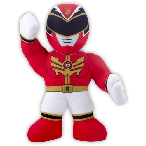 "Power Rangers 15"" Red Ranger Plush with Sound"