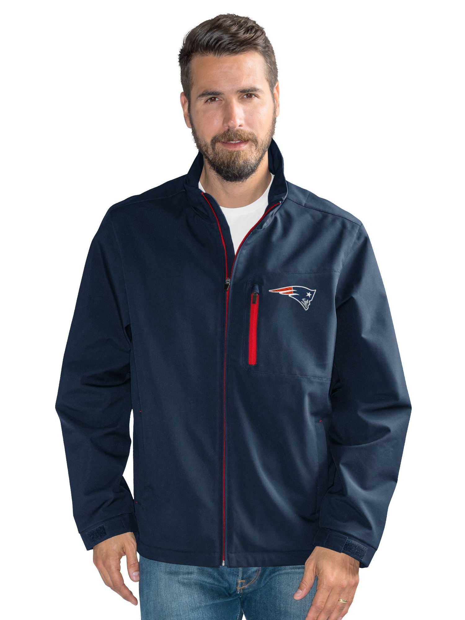 New England Patriots Men's Defender Soft Shell Full Zip Jacket by G-III Sports
