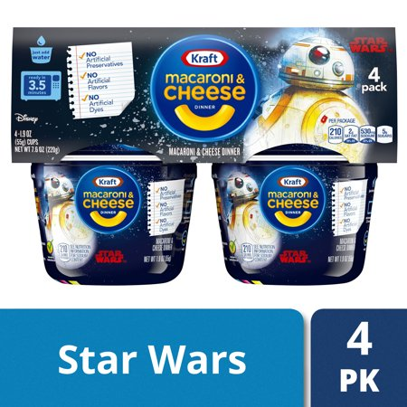 Kraft Easy Mac Star Wars Macaroni And Cheese 4 Ct 76 Oz Package