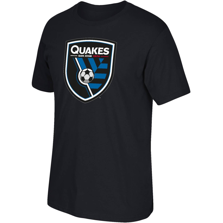 MLS San Jose Earthquakes Mens Oversized Logo Short Sleeve Tee
