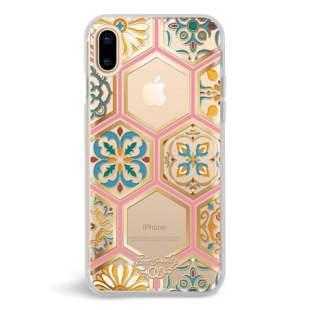 Zero Gravity Apple iPhone X Imperial Phone Case - Hexagon Marble Clear Design - 360° Protection, Drop Test Approved