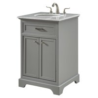 "Elegant Lighting VF15024GR Grey Americana 24"" Wide Vanity Set"
