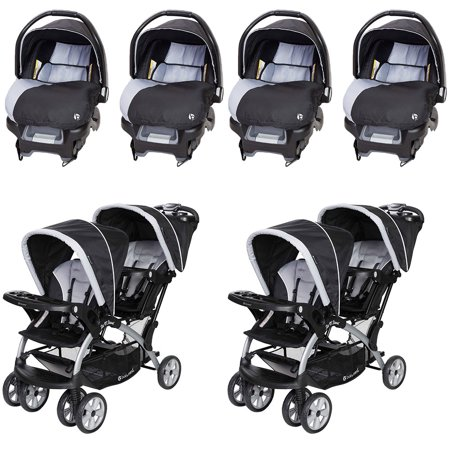 Baby Trend Infant Car Seat 4 Pack Sit N Stand Double Stroller