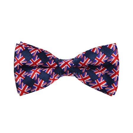 Jack Skellington Bat Bow Tie (Premium Union Jack British UK Flag Tuxedo Neck Bowtie Bow)
