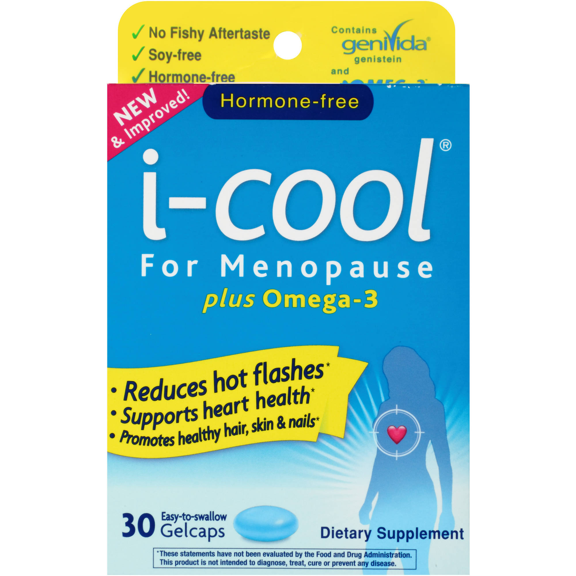 i-cool for Menopause Relief, Supplement for Hot Flashes, 30 ct