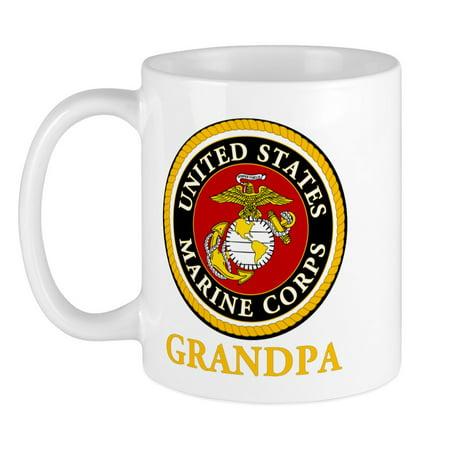 CafePress - USMC Grandpa Mug - Unique Coffee Mug, Coffee Cup (Best Cafepress Great Grandpas)