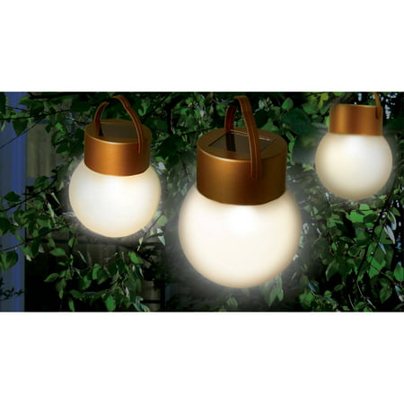 (Ideaworks JB6638 Hanging Solar LED Lights, Copper and Frosted)