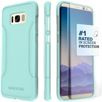 SaharaCase Galaxy S8 Plus Case, Classic Protection Kit with ZeroDamage Tempered Glass – Aqua