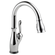 Delta Leland Single Handle Pull-Down Kitchen Faucet with Touch2O and ShieldSpray Technologies in Chrome 9178T-DST