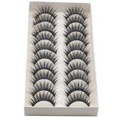 DZT1968 3D Natural Cross Fluffy Mink Glue Adhesive Long Fake Eyelashes Pack Reusable