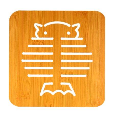 Heat Insulation Mat Bamboo Wood Insulation Mat Heat Resistant Trivet Mat Hot Pot Holder Cute Table Mat