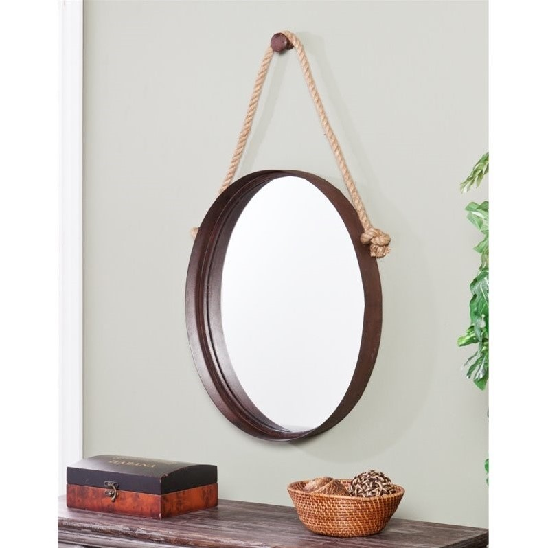 Southern Enterprises Melissa Decorative Mirror in Rich Rust