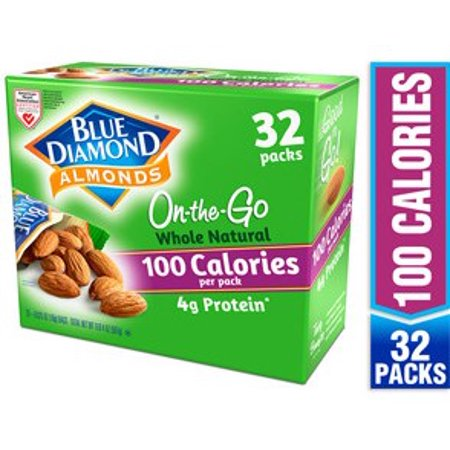 100' Almond - Blue Diamond Almonds, Whole Natural 100 calorie packs (32 count)