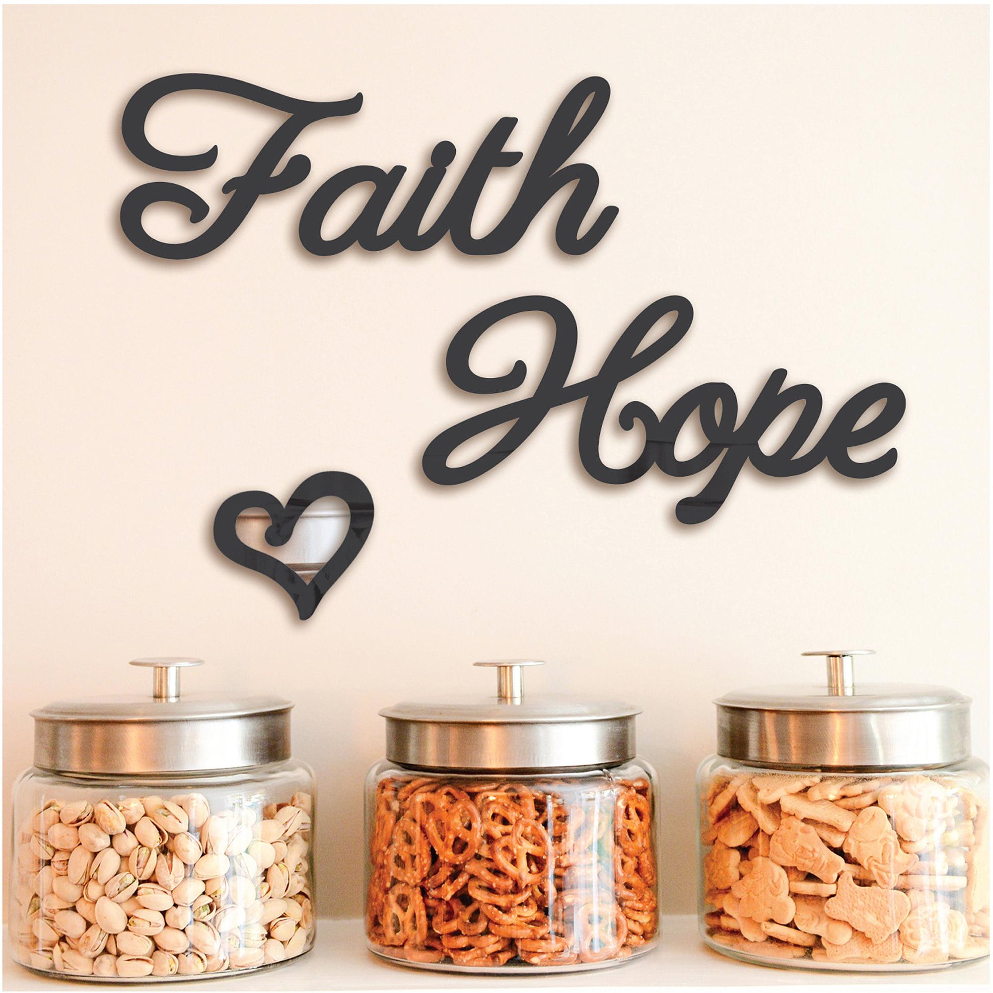 Pressed Petals Hope Faith Mirror Decals