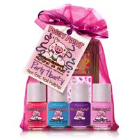 Piggy Paint Girls Nail Polish, 100% Non-toxic Safe, Chemical Free Low Odor for Kids, Party Hearty Gift Set
