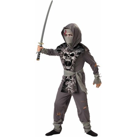 Zombie Ninja Child Halloween Costume - Football Zombie Halloween Costume