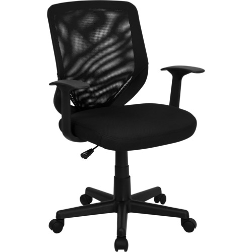 mesh mid-back office chair, black - walmart