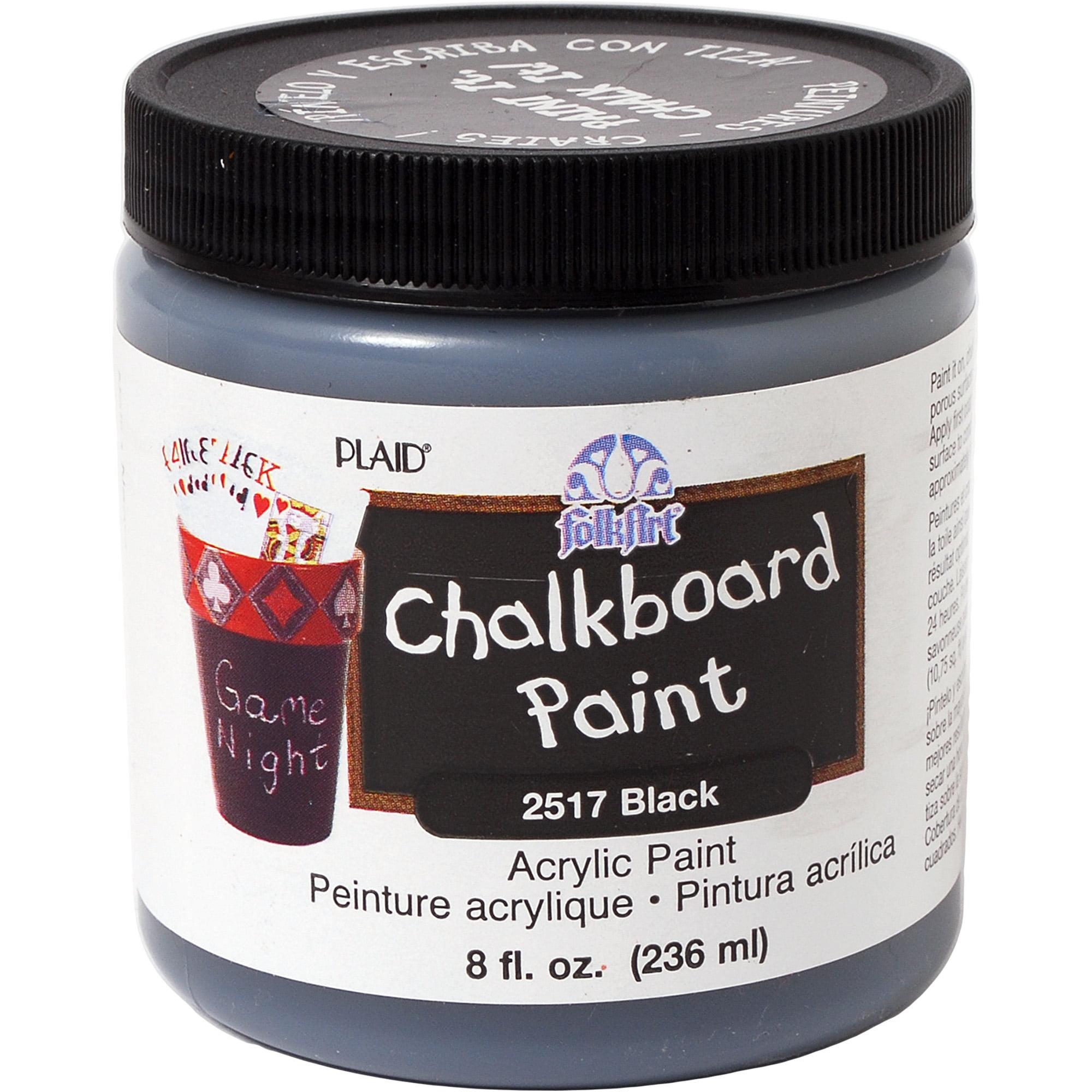 Folkart Chalkboard - Black 8 Oz. Jar
