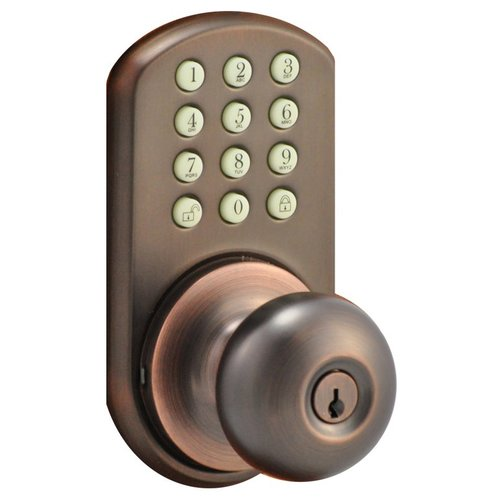 MiLocks HKK-01OB Touchpad Electronic Door Knob, Oil Rubbed Bronze