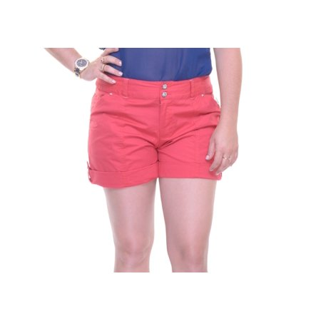 INC Womens Red Cuffed Short  Size: 2