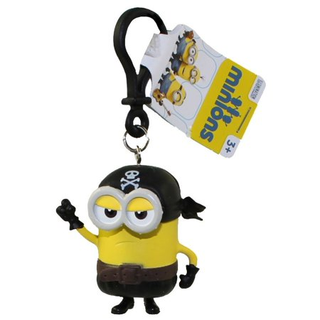 Minions Movie: Pirate Kevin PVC Figurine Backpack Clip - Minion Figurines