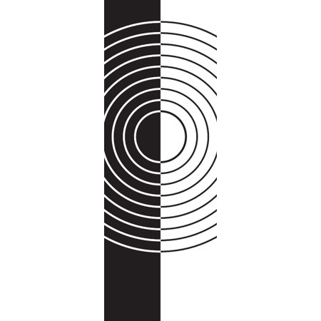 UPC 680083305331 product image for Illusion Black White Circle Shapes Abstract Modern Wall Decor Artwork For Home B | upcitemdb.com