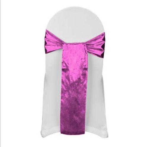 """Tissue Lame Chair Sashes 6"""" x108"""" Bow Metallic 100% Polye..."""