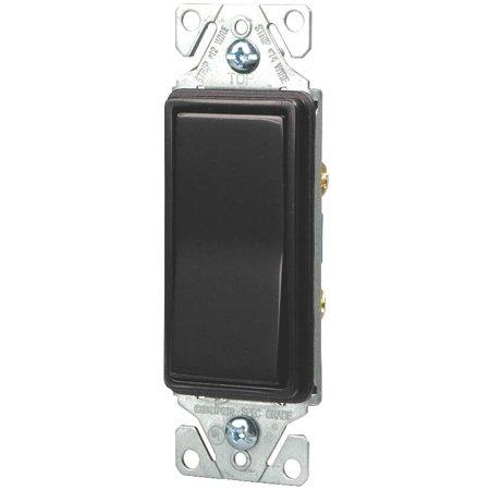 Cooper 7501Bk Box Decorative Standard Rocker Switch  120 277 Vac  15 A  1 P