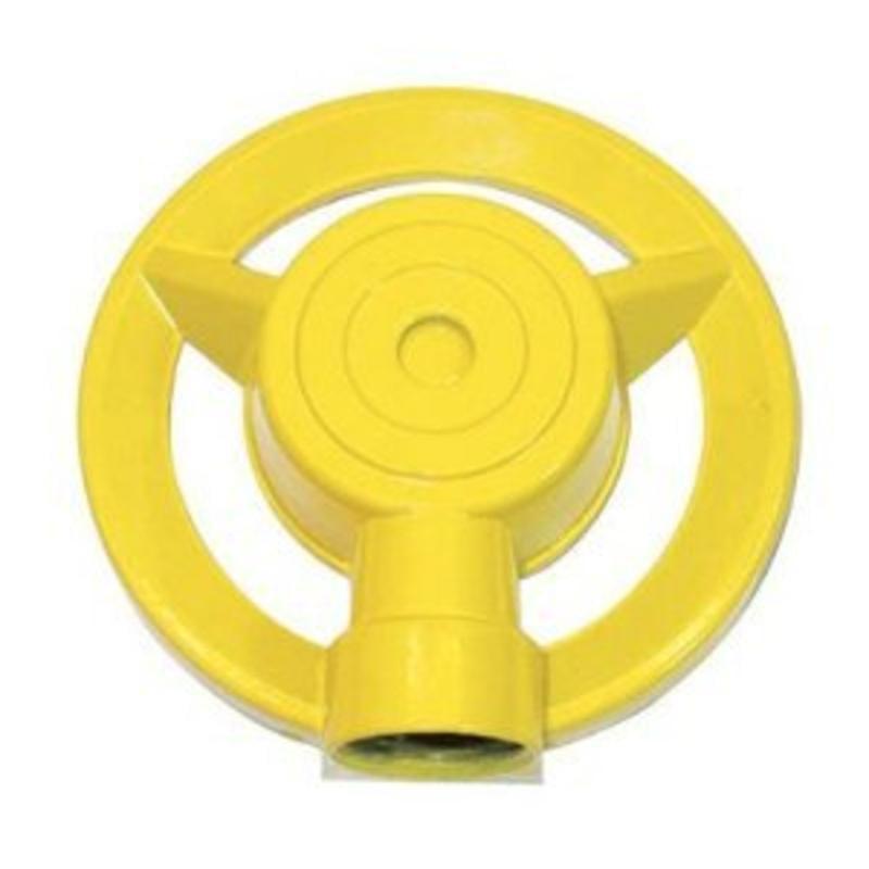 Large Metal Round Pattern Sprinkler, Yellow QVS Sprinklers 4113 807686004113 by Qvs