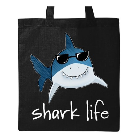 Shark Life Fun Shark With Sunglasses Tote Bag Black One Size