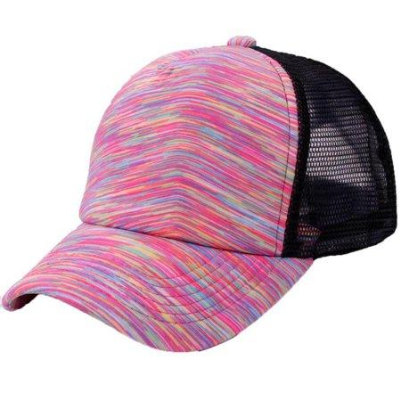 AkoaDa Baseball Cap Mesh Fitted Trucker Hat Blank Visor Fit Style Gauze Camouflage