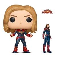 Warp Gadgets Bundle - Funko Pop Marvel Captain Marvel and Figpin - Captain Marvel - Collectible Enamel Pin (2 Items)