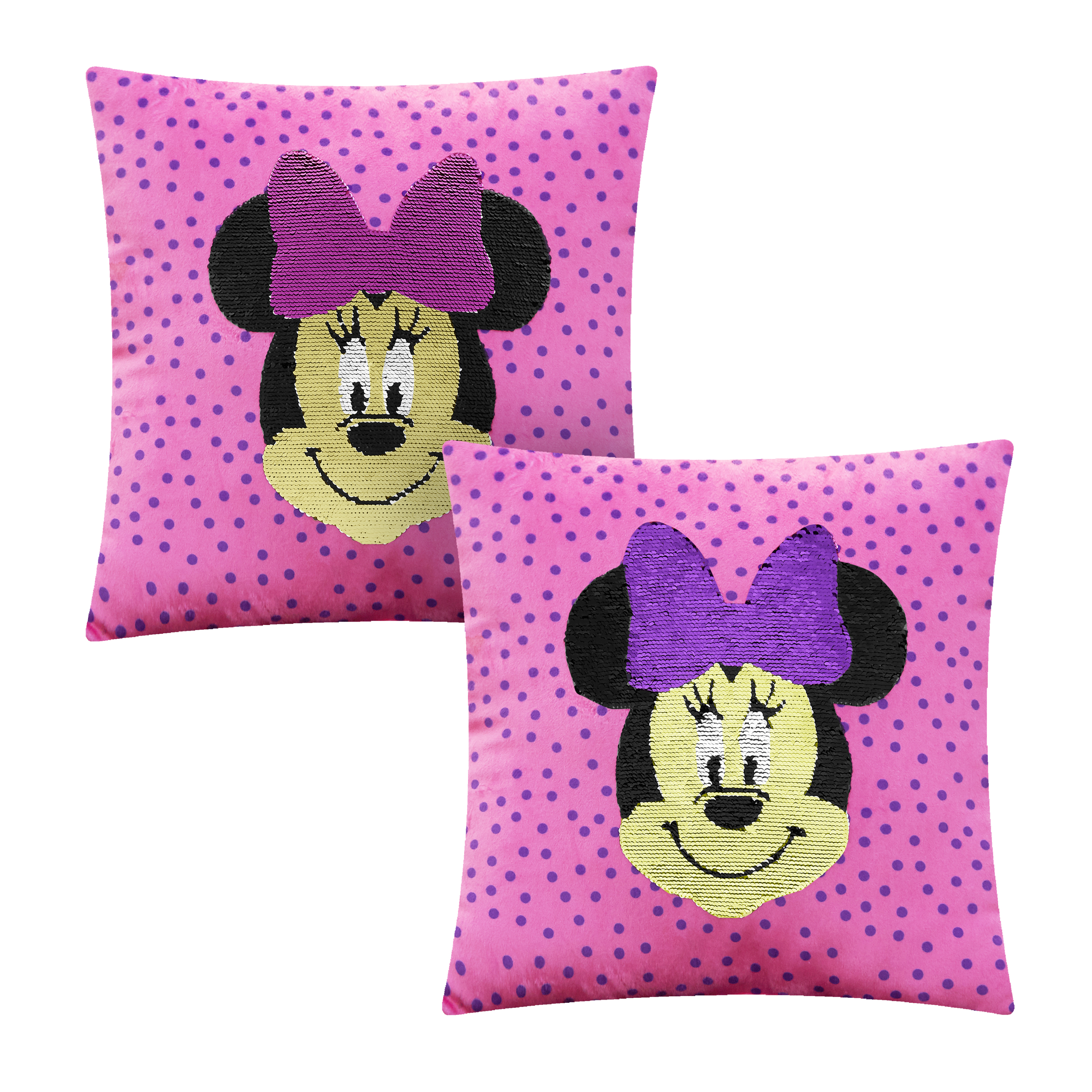 Minnie Mouse Sequin Reversible Throw Pillow