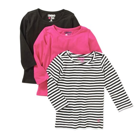 Limited Too Girls Long Sleeve T Shirts 3 Pack Set