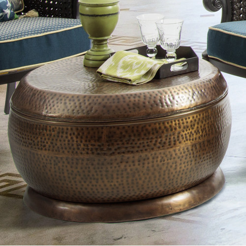 Bombay Outdoors Madras Coffee Table In Antique Copper Walmart Com