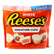Reese's White Miniature Peanut Butter Cups, Family Pack, 17.6 oz