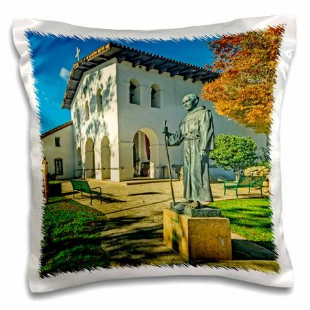 3dRose Mission San Luis Obispo de Tolosa a California Mission - Pillow Case, 16 by