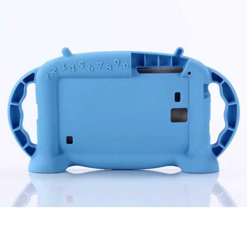 For Samsung Galaxy Tab A SM-T280 / Tab 4 SM-T230 / Tab E Lite SM-T113 7inch Tablet Case, Dteck Handle Shockproof Kids Safe Cover, Blue