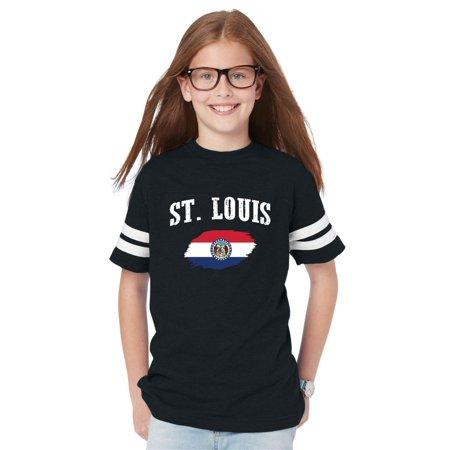 St. Louis Missouri Youth Unisex Football Fine Jersey Tee ()