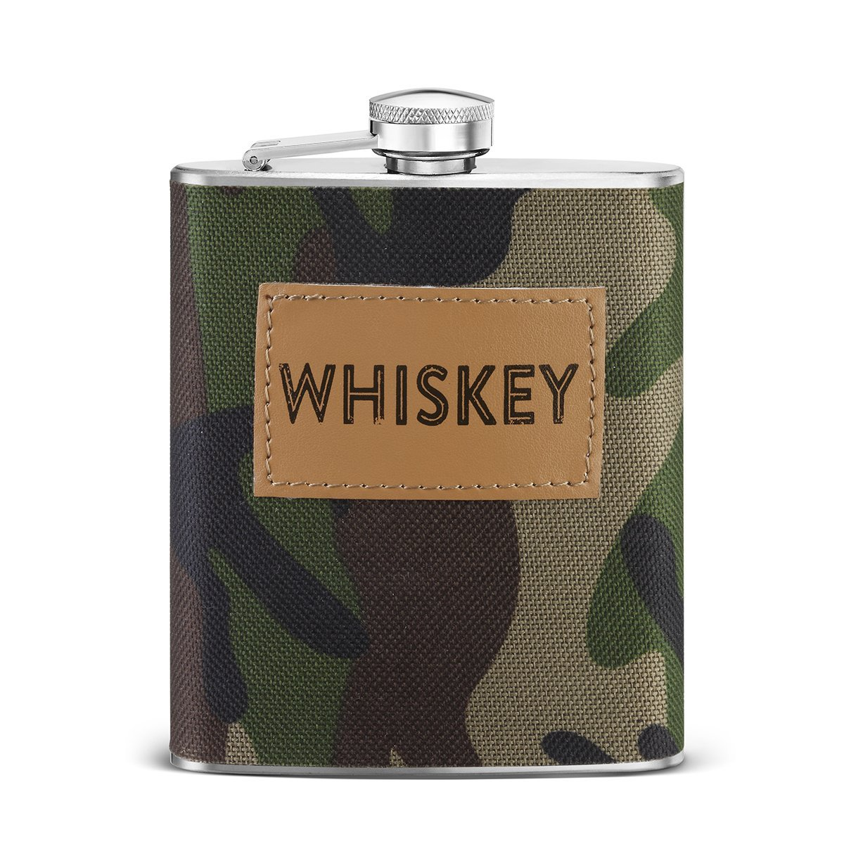 Big Sky Carvers Camo Whiskey Flask, Multicolor
